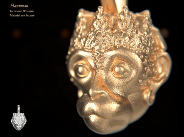 HANUMAN petite necklace pendant in Natural Bronze
