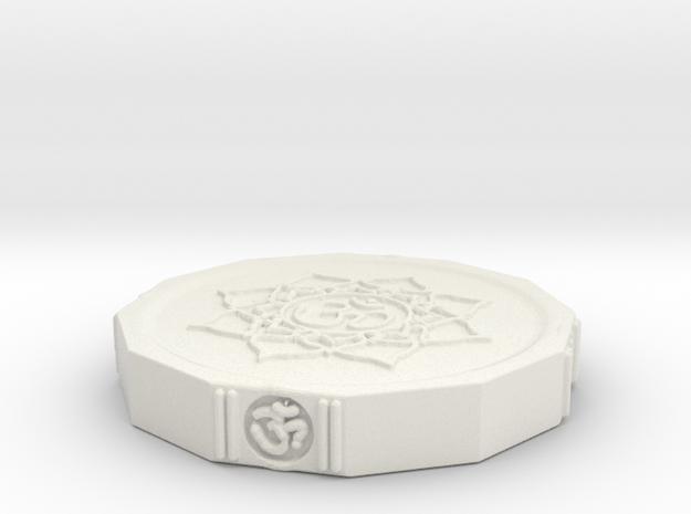 Aum Coin in White Natural Versatile Plastic