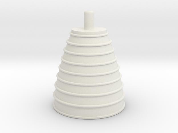 1/100 Space Shuttle Engine Nozzle in White Natural Versatile Plastic