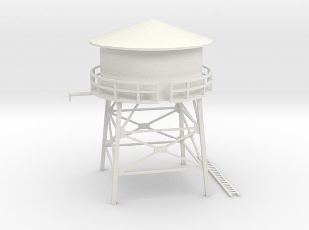 N Scale Water Tank 1:160 in White Natural Versatile Plastic