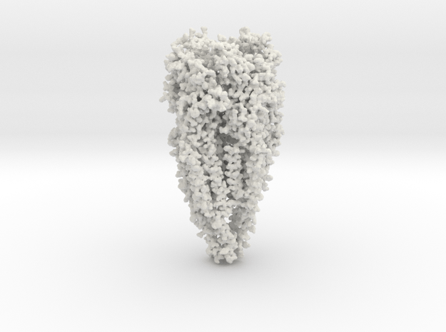 Acetylcholine Receptor - All Atom - Small Size in White Natural Versatile Plastic