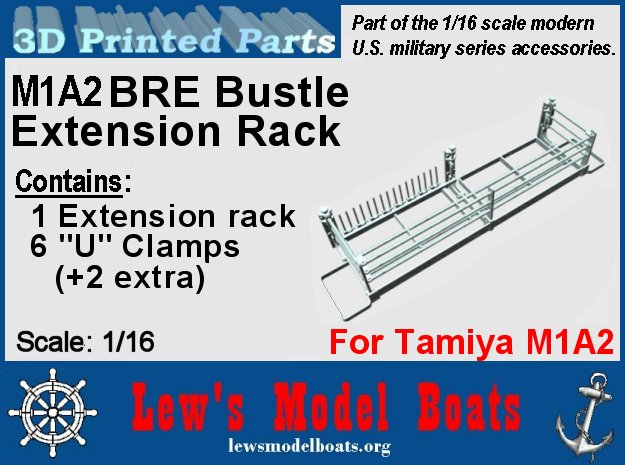 M1A2 Bre rack Tamiya 1/16 scale in White Natural Versatile Plastic: 1:16