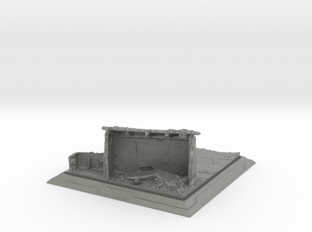 "1/144 Diorama Base ""Farm Ruin"" in Gray PA12"
