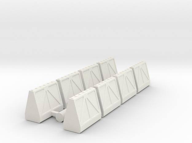 Cargo Pods 1 80mm in White Natural Versatile Plastic
