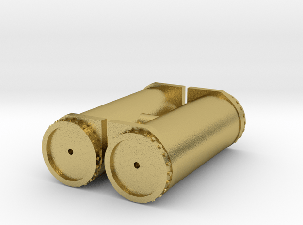 Air tanks in Natural Brass