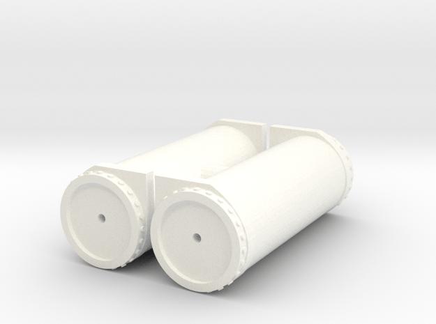 Air tanks (plastic) in White Processed Versatile Plastic