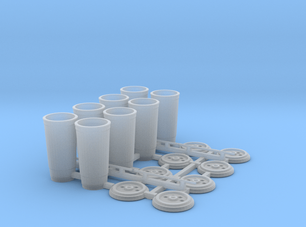 Large Soda Cups 1/12 scale  in Smooth Fine Detail Plastic