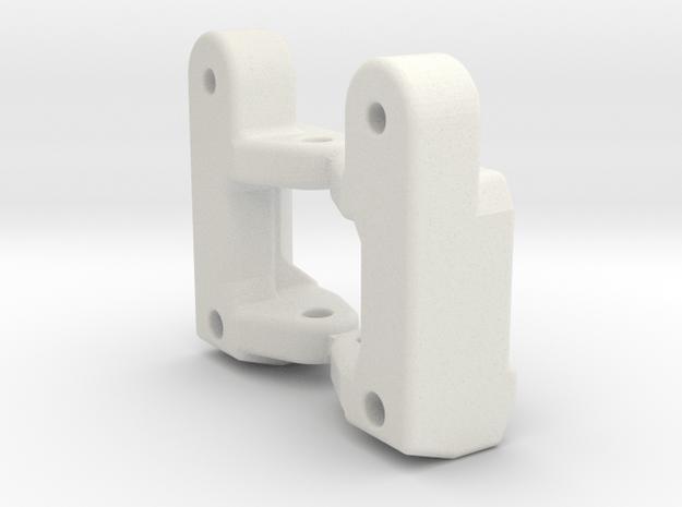 Tamiya DS / DB /TR-15T reinforced C-Hubs 3° in White Natural Versatile Plastic