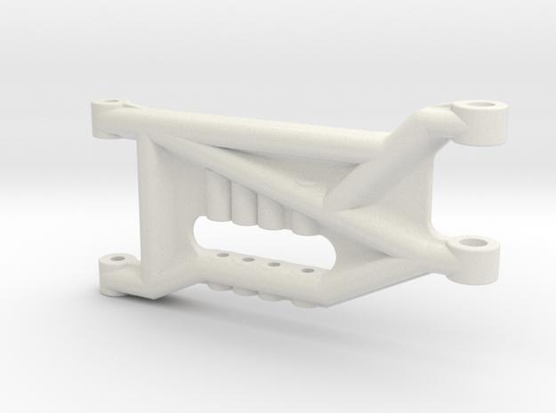 B3 Dyna Blaster / TR-15T front suspension arm in White Natural Versatile Plastic