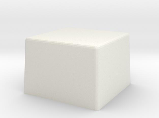 Replacement Button rev0 in White Natural Versatile Plastic