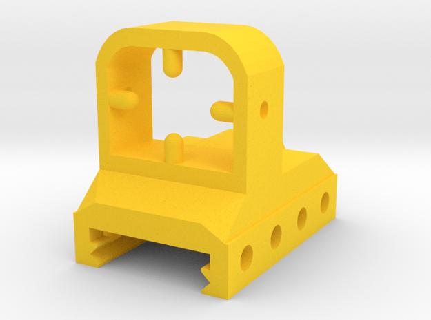 TSQ Mock Red Dot Reflex Sight for Picatinny Rail in Yellow Processed Versatile Plastic