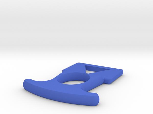 R40 Priming Handle for Nerf Hyper Rush-40 in Blue Processed Versatile Plastic