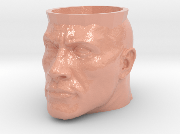 Dwayne The Rock Johnson Cup in Glossy Full Color Sandstone