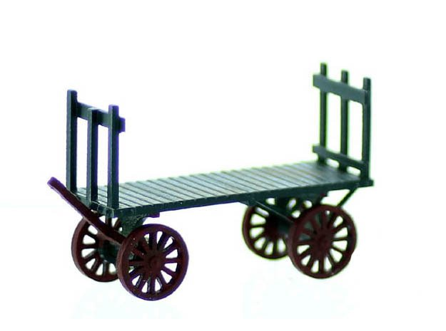 Railroad Baggage Wagon HO Scale 2 Pack 1:87 in Smooth Fine Detail Plastic