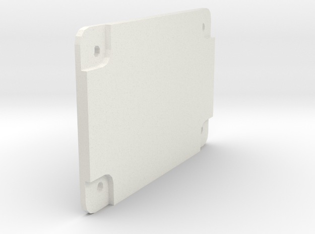 F-Body Center Console Accessory Switch Faceplate in White Natural Versatile Plastic