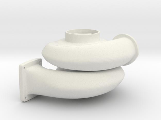 Turbo Keychain in White Natural Versatile Plastic