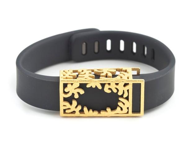 Steel Matisse slide for Fitbit Flex in Polished Gold Steel