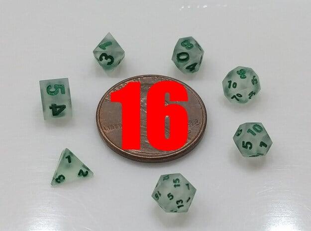 16x Super Tiny Polyhedral Dice Set, V4