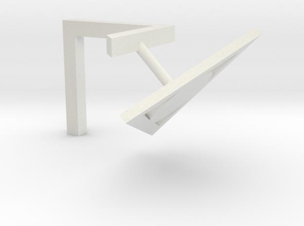 Penrose Triangle in White Natural Versatile Plastic