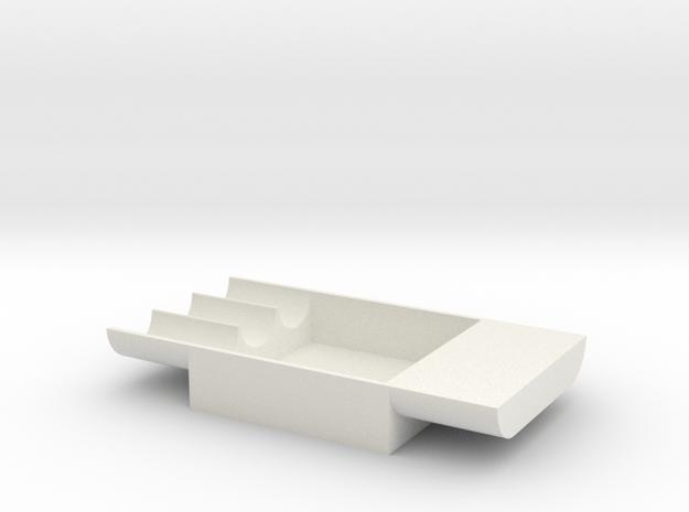 Besselheim Plate 5 cm in White Natural Versatile Plastic