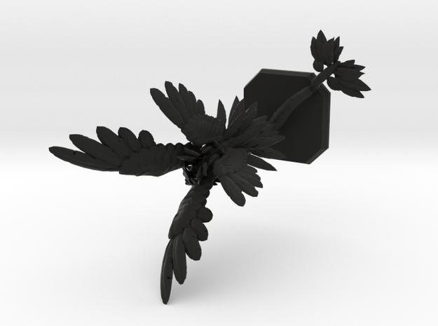 Air elemental_reshaped in Black Natural Versatile Plastic