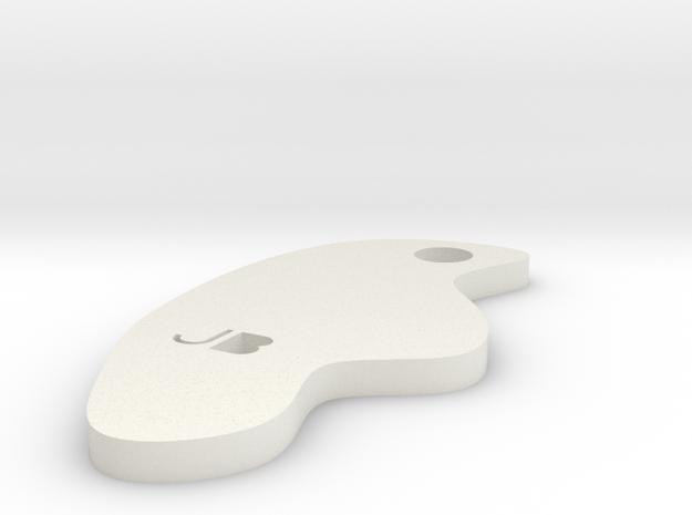 Key fob 4 in White Natural Versatile Plastic