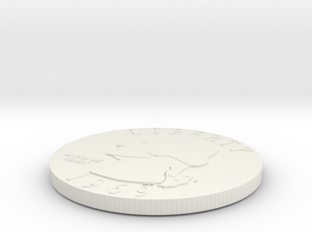 Double Headed Coin in White Natural Versatile Plastic