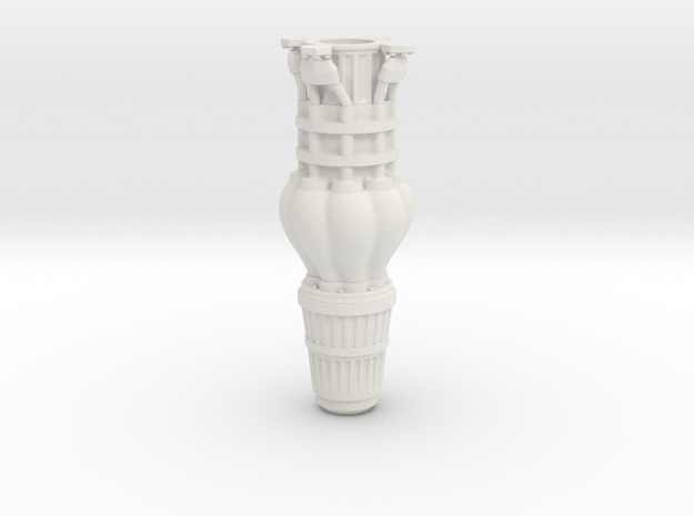 Turbine3 in White Natural Versatile Plastic