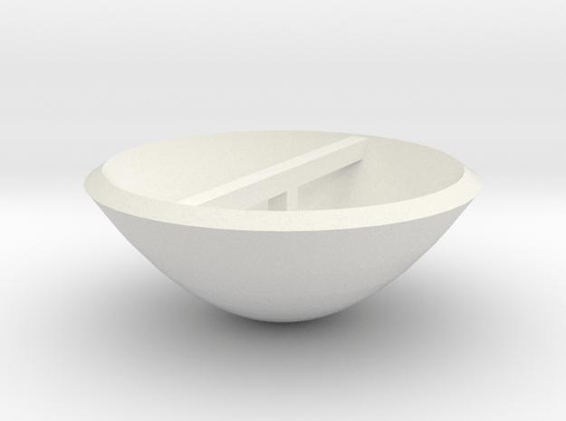 Smaller Dish in White Natural Versatile Plastic