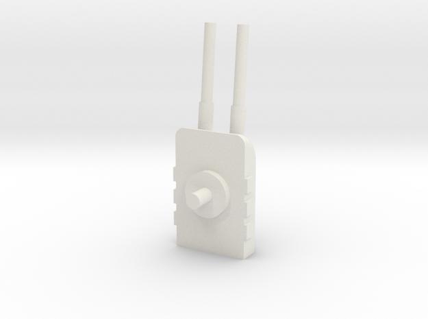 Turret 1 in White Natural Versatile Plastic