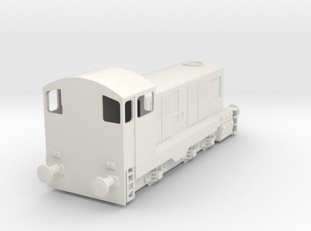 CIE E Class 421 OO Scale in White Natural Versatile Plastic