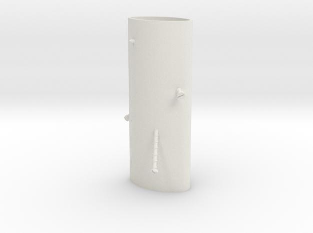 Danger Flicka in White Natural Versatile Plastic