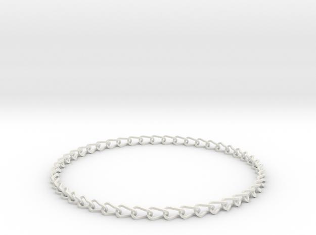 Larger printable bracelet in White Natural Versatile Plastic