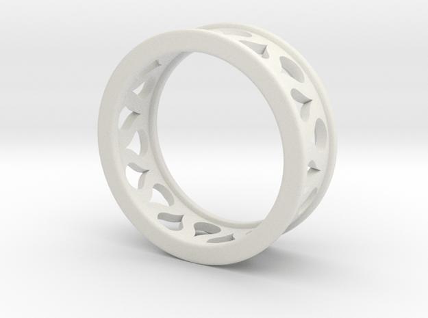 Droplet Ring in White Natural Versatile Plastic