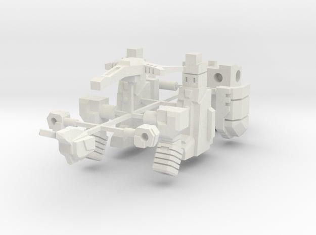 Barrage Bot in White Natural Versatile Plastic