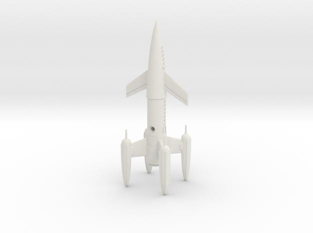 "R-Rocket ""Earth"" Class Medium in White Natural Versatile Plastic"