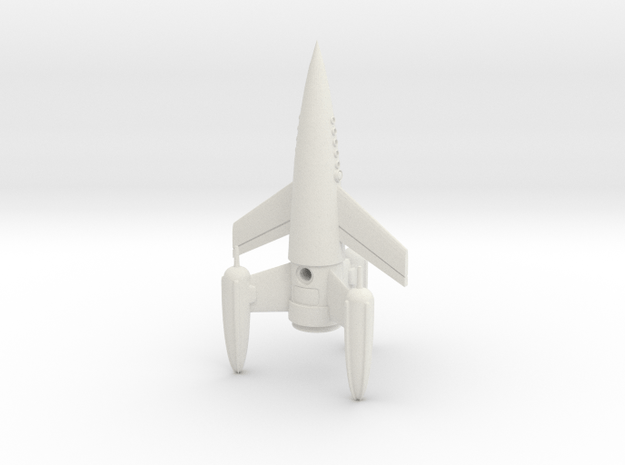 """R-Rocket """"Earth""""-Class Small in White Natural Versatile Plastic"""