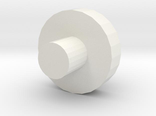 Wheel_test Disc in White Natural Versatile Plastic