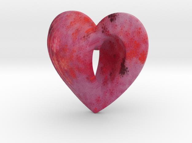 Fractal Heart Bauble 5 in Full Color Sandstone