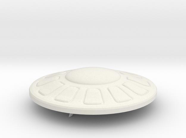 R-Rocket UFO 001 in White Natural Versatile Plastic