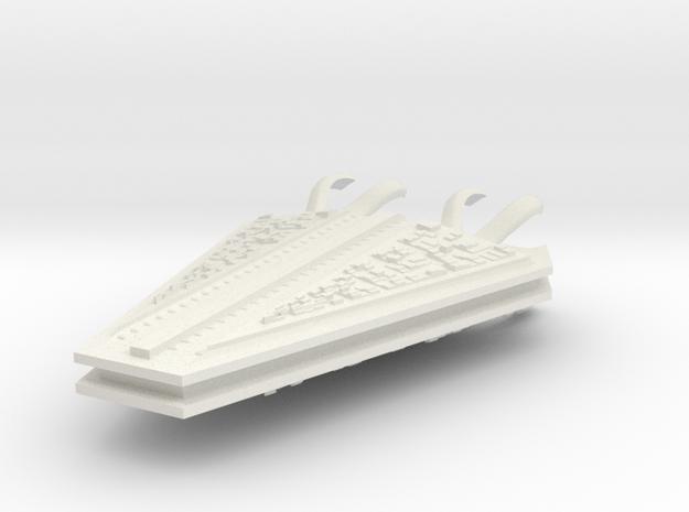 M-Ships Faction 1 Cruiser in White Natural Versatile Plastic