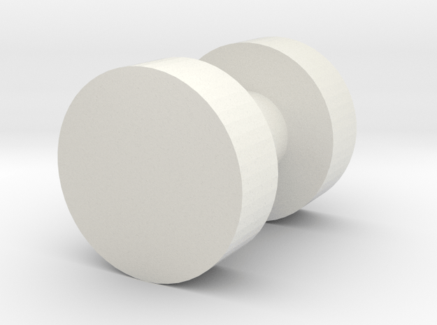 Jumpstarter Wheel in White Natural Versatile Plastic