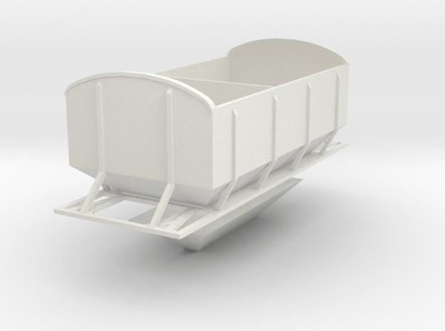(SHORT)CIE Ballast Hopper OO Gauge in White Natural Versatile Plastic
