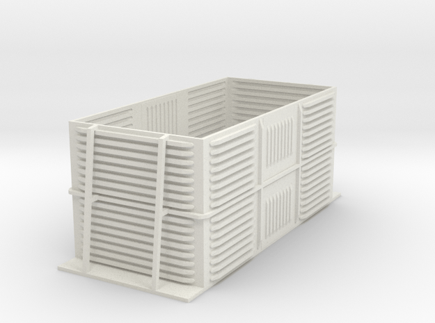 (OO Dapol Prestwin) SHORT Beet Box in White Natural Versatile Plastic