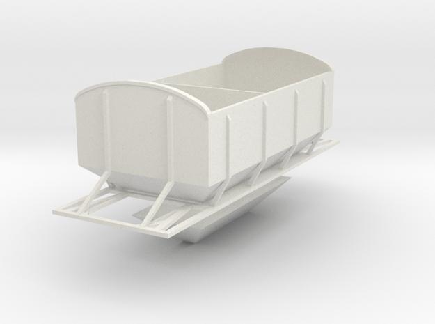 CIE Ballast Hopper OO Gauge in White Natural Versatile Plastic