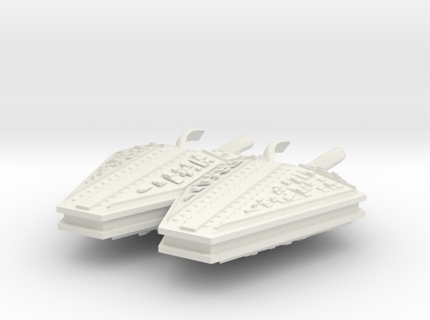 M-Ships Faction 1 Battlecruiser in White Natural Versatile Plastic