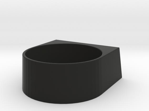 block Ring 20 in Black Natural Versatile Plastic