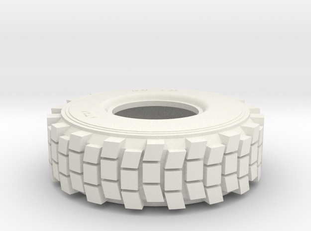 TIRE, HEMTT, 1/24th SCALE in White Natural Versatile Plastic