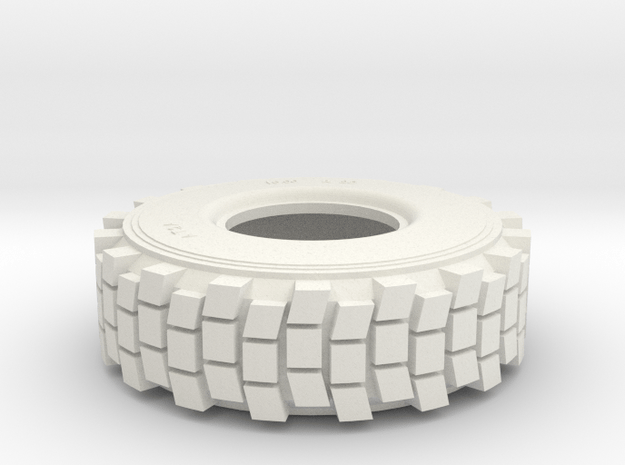 TIRE, HEMTT, 1/35 Hollow in White Natural Versatile Plastic