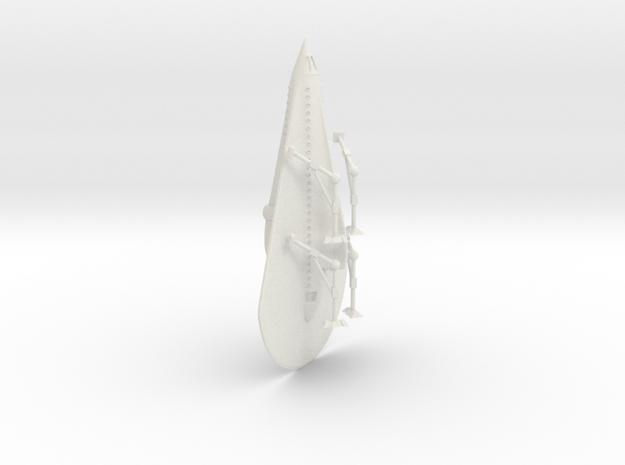 "R-Rocket ""Venus""  Large in White Natural Versatile Plastic"